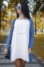 Sakolife Sukienka - tunika dwukolorowa
