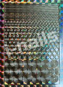 Ozdoby do paznocki laserowe wycinane z motywami hologramowymi - srebrne kółeczka