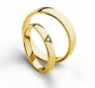 Złote obrączki ślubne AMARE PROMISE 607-3
