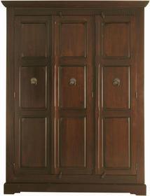 Kare Design Cabana Szafa 3-drzwiowa Drewno Topoli lakierowane brązowy kolor 211x161cm - 2144