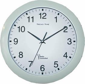 Zegar ścienny analogowy radiowy 30 cm x 4 5 cm biały