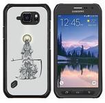 Samsung SKCASE Center / Hart Case Cover Handy Schutz Hülle Schale Etui - Sensenmann-Engel Scythe Tod Cape - Galaxy S6 Active G890A