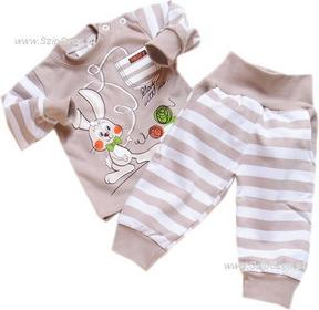 Dresy dziecięce bluza i spodnie Króliczek piaskowy 74