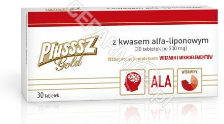 POLSKI LEK Plusssz Gold z kwasem alfa-liponowym x 30 tabl