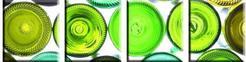 DobryObraz Cztery kwadraty - Na zielono 0028 - obraz na płótnie