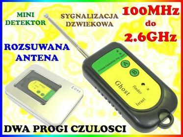 MINI WYKRYWACZ UKRYTYCH KAMER PODSŁUCHÓW GSM WiFi 3G FM Easy_ID:1MR0126
