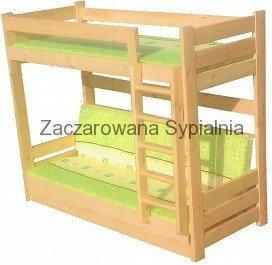 Zaczarowana Sypialnia Łóżko piętrowe WERSALKOWE sosna +mat