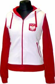 Bluza damska z kapturem POLSKA biała