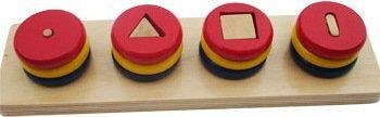 TojGard Montessori Układanka geometryczna - dopasuj kształty - nr 2