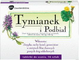GlaxoSmithKline Tymianek i podbiał 16 szt.