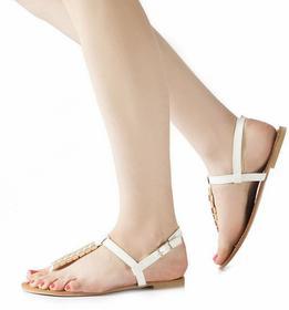 Białe sandały White Sandals Adéla biały
