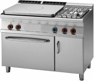 RM Gastro Kuchnia żeliwna gazowa z piekarnikiem gazowym GN 2/1 TPF2 - 712 GV/P