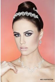 AnKa Biżuteria Kolia i kolczyki - Zachwycający komplet -Wyglądaj jak księżniczka