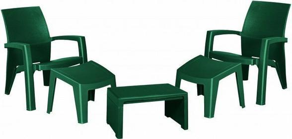 Allibert Zestaw mebli ogrodowych LAGO MAXI relax zielony 97/65