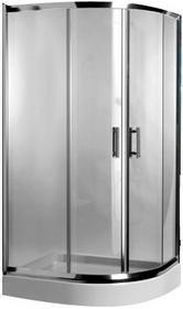 Omnires Health 80x90 lewa profil chrom błyszczący szkło transparentne JK2808/09 L LC2 TR
