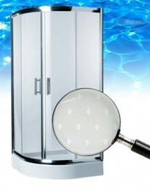 Omnires Health 90x90 profil chrom błyszczący szkło diamond JK2809 LC2 DIAMOND