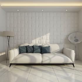 vidaXL Panel ścienny 3D, kwadrat (0,5 m x 0,5 m) 24 panele 6m