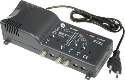 AEV Wzmacniacz MAS848 z zasilaczem Radio-UHF reg. 32 dB, 117 dBuv
