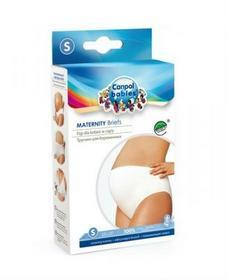 Canpol babies figi dla kobiet w ciąży zakrywające brzuch bawełniane białe M 26/208 - 1