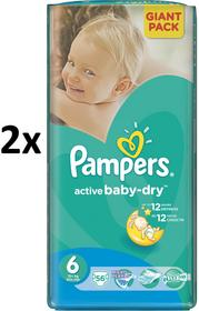 Pampers Pieluchy Active Baby Giantpack 6 Extra Large 2 x 64 szt. 128 szt