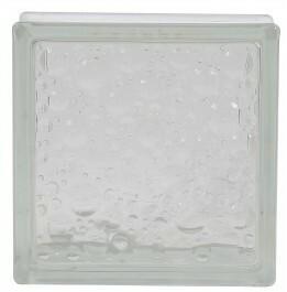 Luksfer barwiony w masie 19x19x8 cm bąbelki