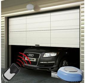 Drzwi garażowe, z dwoma pilotami