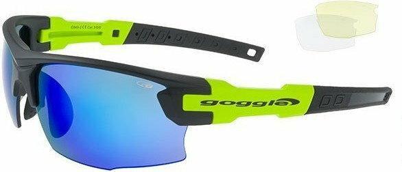 GOGGLE Okulary sportowe z wymiennymi szybami Steno E840-2 - Matt czarny/Green