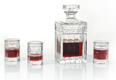 Bohemia Karafka + Kieliszki do wódki, nalewek Paul Crystal