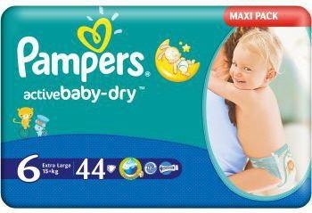 Pampers Active Baby Dry 6 Extra Large 44 szt.