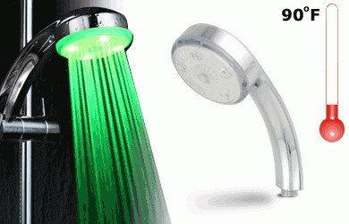Kolorowa nakładka na prysznic LED