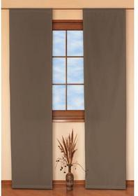 Dekoria Panel 2 szt. Fleur czekoladowy o satynowym splocie