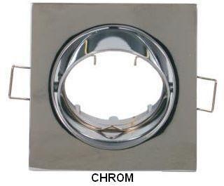Superled Oprawa oprawka led halogenowa ruchoma kwadratowa kolor chrom OHK15 7342
