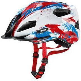 UVEX Kask rowerowy Quatro junior 50-55 white-red