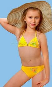 gWINNER JULKA dziewczęcy strój kąpielowy dwuczęściowy żółty SKD13