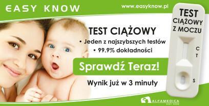 ALFAMEDICA SP. Z O.O. Test ciążowy Easy Know - płytkowy, 1 sztuka