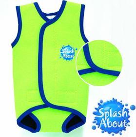 Splash About Neoprenowy mini-kombinezon pływacki Baby Wrap - limonkowy z grantow
