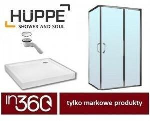 Huppe Ena kabina prysznicowa 100x80 + brodzik Kaldewei SP-5 + syfon (12040106932