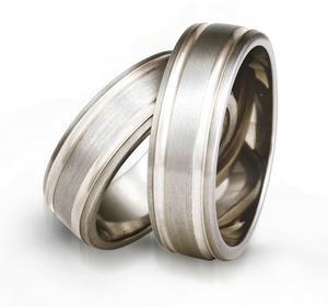 Obrączki z tytanu i srebra TS76