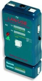 Gembird Tester diodowy kabli RJ4 5,RJ11,UTP,STP,USB AA/AB