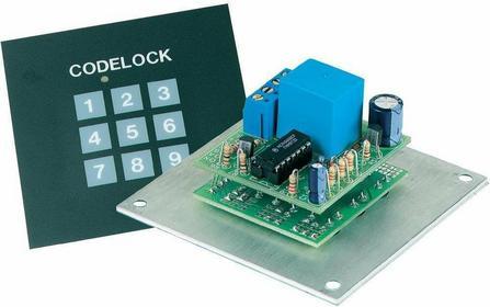 Zamek kodowy Velleman K6400 9-15 V/DC lub 8-12 V/AC 80x8x40 mm zestaw