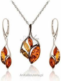 AnKa Biżuteria Srebrna biżuteria: Komplet biżuterii z bursztynem