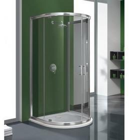Sanplast KP2DJ/TX5b-100 100x100 profil srebrny błyszczący szkło W0