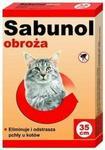 Dermapharm Laboratorium Sabunol Obroża owadobójcza czerwona przeciw pchłom i kleszczom kot 3
