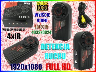 MINI Kamera SZPIEGOWSKA FULL HD 4IR DETEKCJA RUCHU METALOWA OBUDOWA Easy_ID:1MR0