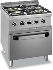 Hendi Kuchnia gazowa 4-Palnikowa z Piekarnikiem Elektrycznym GN2/1 HEMG7G4SFE77