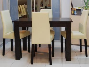 Meble-Stelmach Krzesło Reset AKRM 4 szt BRW + stół 70/110