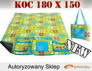Spokey KOC PIKNIKOWY 150x180 PICNIC FLOWERS Torba 812F-32629