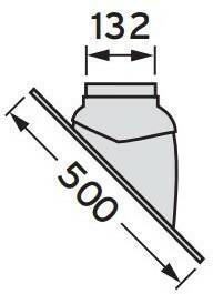 Vaillant Przepust dachowy uniwersalny do dachu skośnego 0020064751
