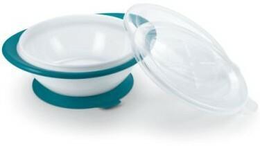 NUK Easy Learning Miseczka do nauki samodzielnego jedzenia 0% BPA, kolor petrol