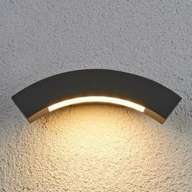 Łukowata zewn. lampa ścienna LED Lennik